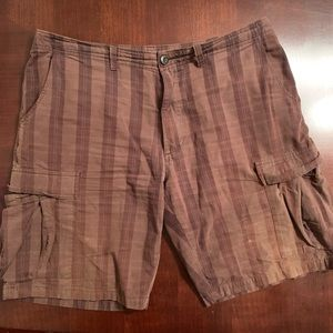 Patagonia Organic Cotton Plaid Cargo Shorts 36W